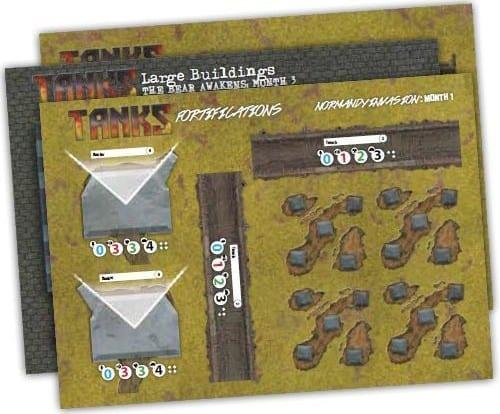 Tanks Terrain Pack (6 Sheets)